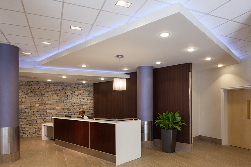 ceiling paint ideas designs - A Wel ing Lobby for Magee Rehabilitation Hospital